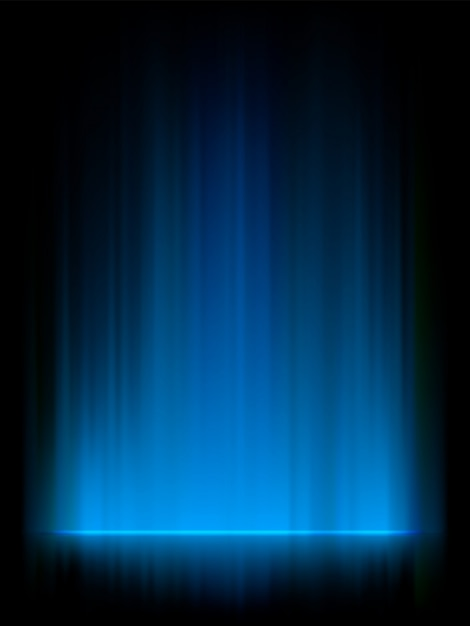 Blaues nordlicht, aurora borealis. Premium Vektoren