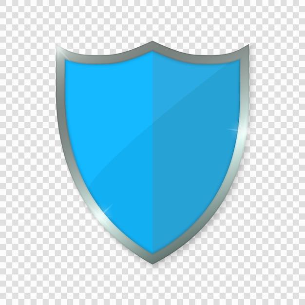 Blaues schild. Premium Vektoren