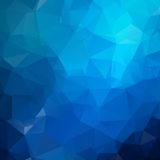 Blaulicht polygonale darstellung, die aus dreiecken bestehen. geometrischer hintergrund in der origami art mit steigung. dreieckiges design für ihr unternehmen. Premium Vektoren