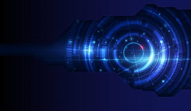 Blaulicht-zusammenfassungs-technologiehintergrund für computergrafikwebsite und -internet Premium Vektoren