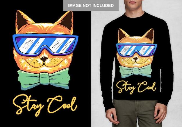 Bleiben sie cool typografie t-shirt design vektor Premium Vektoren