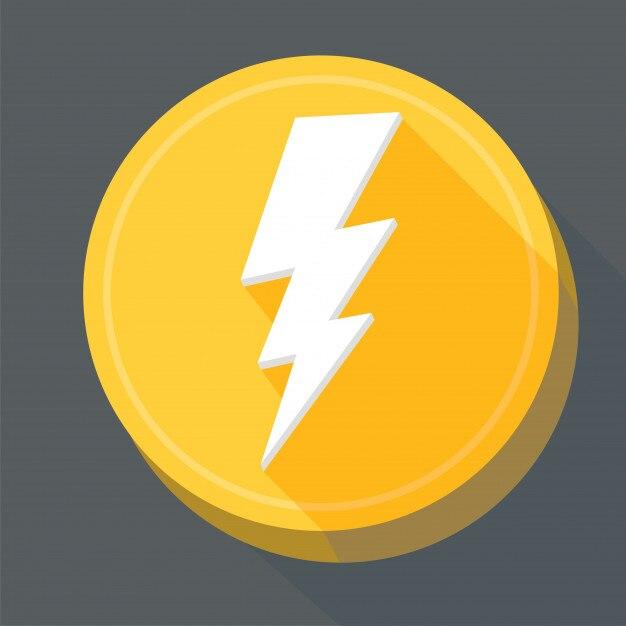 Blitz flache symbole Premium Vektoren