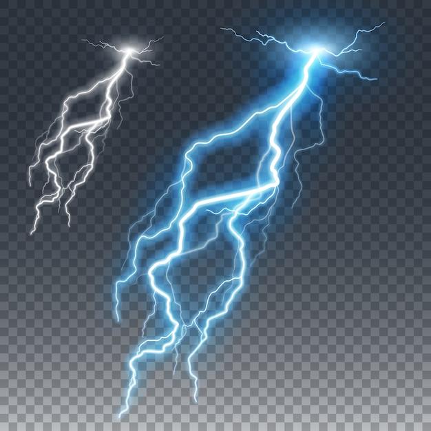 Blitz und donnerbolzen Premium Vektoren