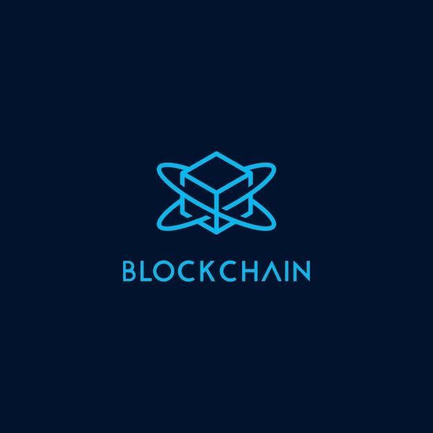 Block kette symbol logo vorlage Premium Vektoren