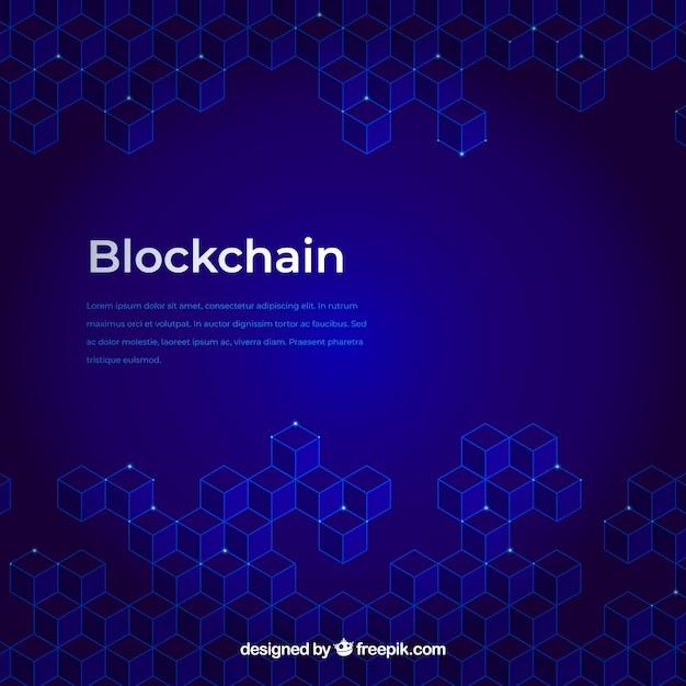 Blockchain hintergrund Kostenlosen Vektoren