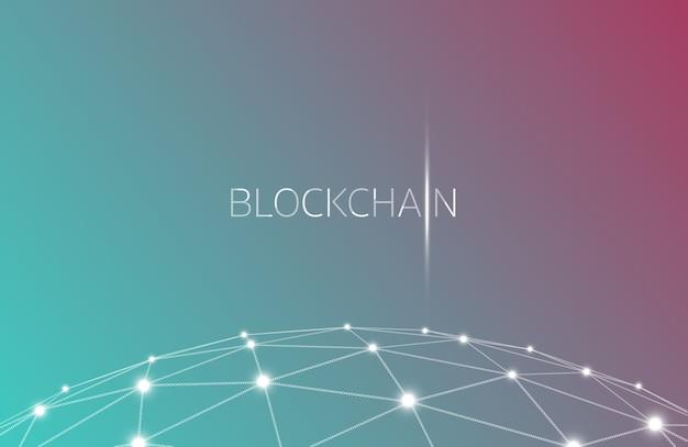 Blockchain-konzept, blockchain-technologie. ico (anfangsmünzenangebot), crypto currency t Premium Vektoren