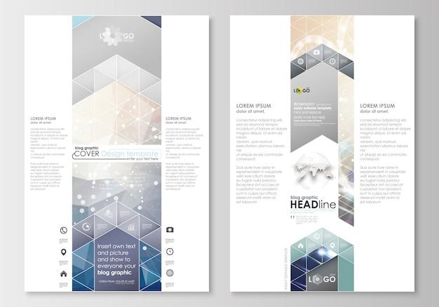 Blog-grafik-geschäftsvorlagen Premium Vektoren