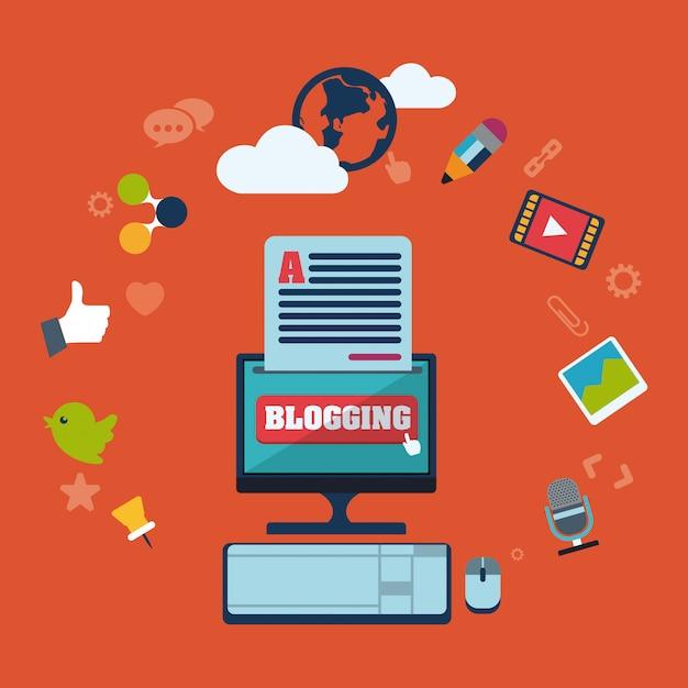 Blog-konzept Premium Vektoren