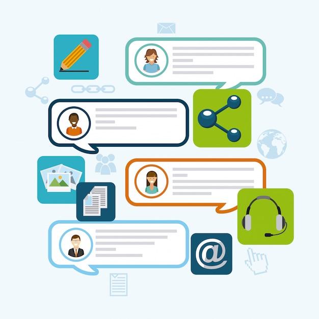 Blog-template-design Premium Vektoren