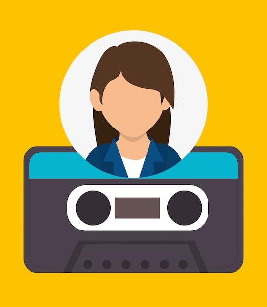 Blog und bloggertrend Kostenlosen Vektoren
