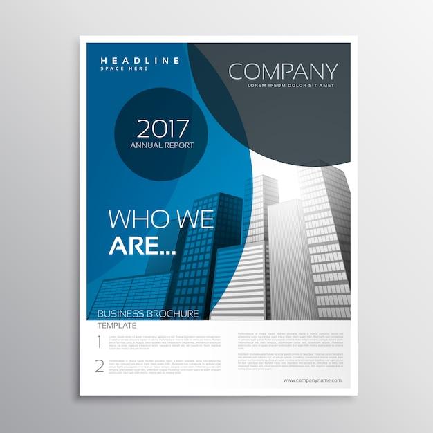 Blue Business Broschüre Deckblatt Vorlage Design Mit Kurve Form