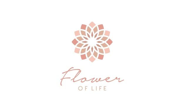Blume des lebens muster logo Premium Vektoren