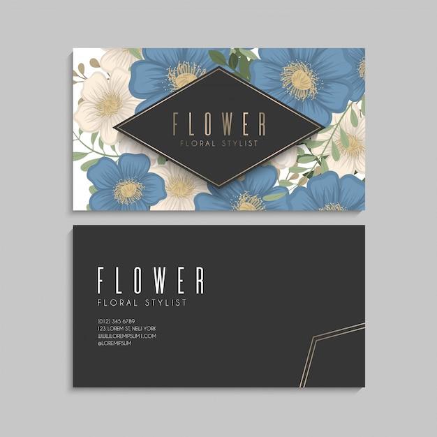 Blume entwirft grenze - blaue blumen Kostenlosen Vektoren