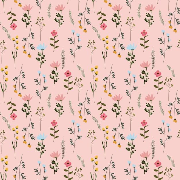 Blume floral nahtlose hintergrundmuster Premium Vektoren