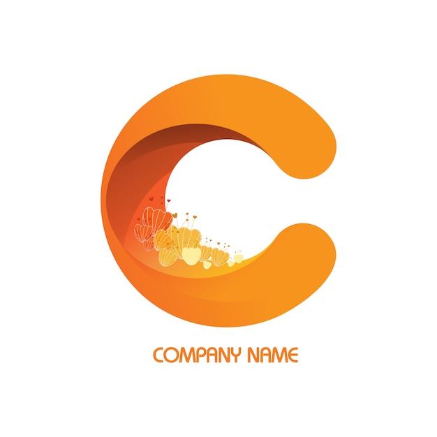 Blume in logos firma. Premium Vektoren