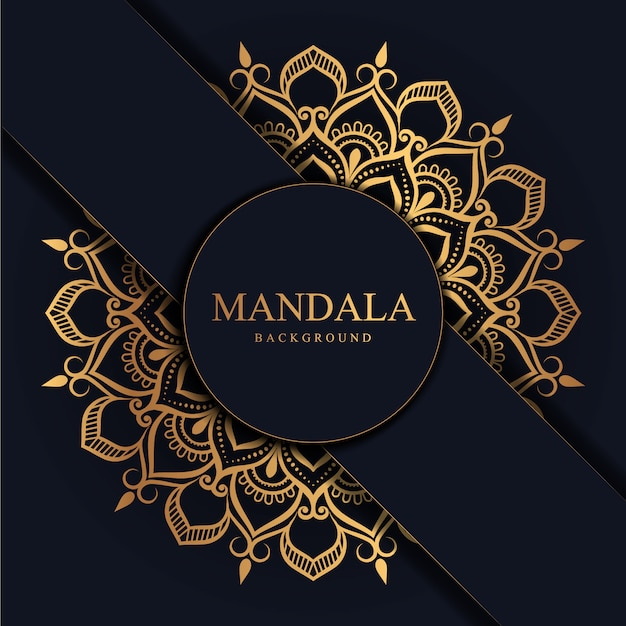 Blume luxus mandala hintergrund arabeske stil Premium Vektoren
