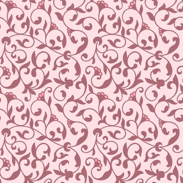 Blume nahtlose muster hintergrund. elegante textur für hintergründe. Kostenlosen Vektoren
