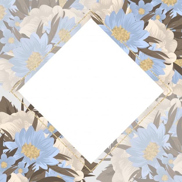 Blume visitenkarten blaue blumen Kostenlosen Vektoren
