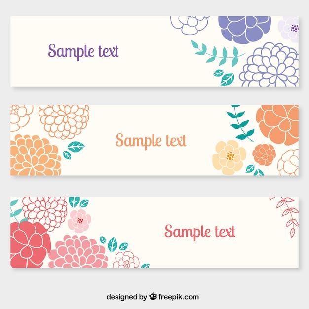 Blumen-Banner-Vorlage | Download der kostenlosen Vektor