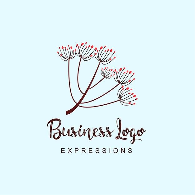 Blumen-business-logo Kostenlosen Vektoren