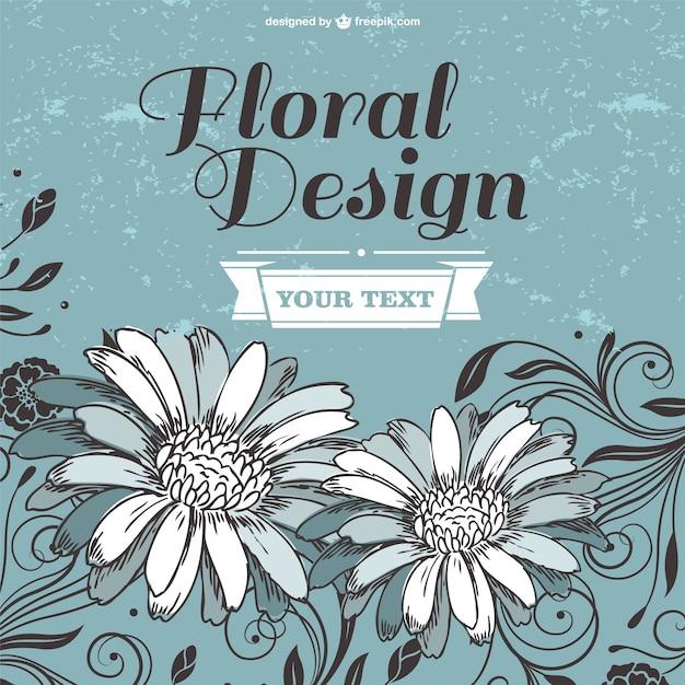 Blumen-design-vorlage Kostenlosen Vektoren