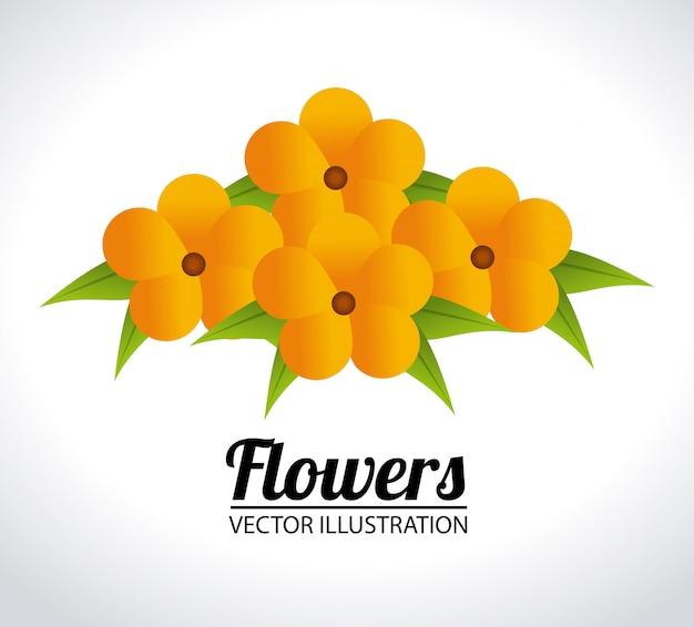 Blumen entwerfen illustration Kostenlosen Vektoren