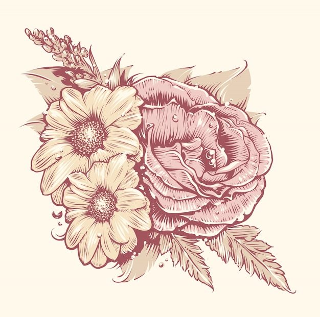 Blumen entwerfen Kostenlosen Vektoren