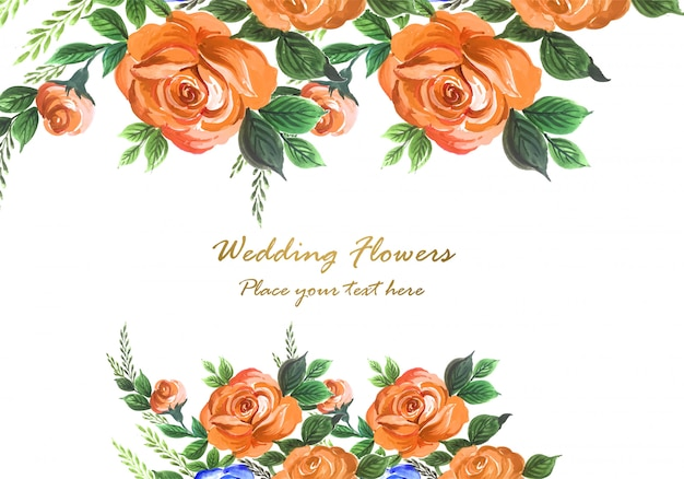 Blumen-kartenhintergrund des hochzeitseinladungsaquarells dekorativer Kostenlosen Vektoren