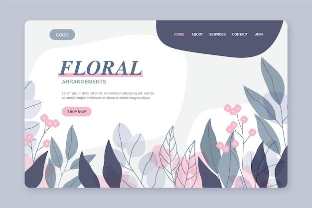 Blumen landing page vorlage Kostenlosen Vektoren