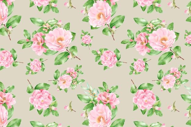 Blumen nahtloses muster blumenblüte Kostenlosen Vektoren