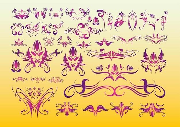 Blumen Tattoo-Kunst Kostenlose Vektoren