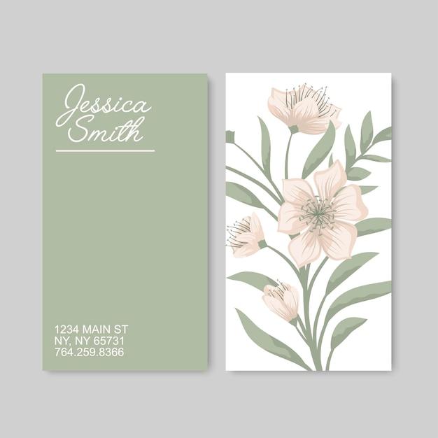 Blumen visitenkarten vorlage Kostenlosen Vektoren