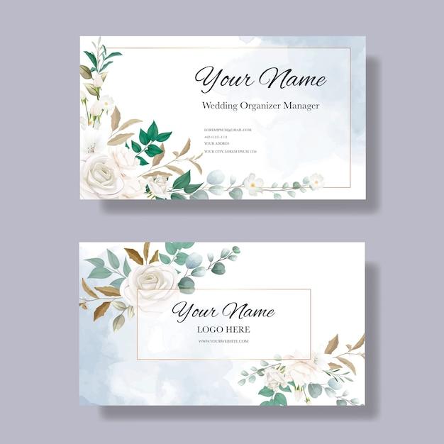 Blumen visitenkartenvorlage Kostenlosen Vektoren