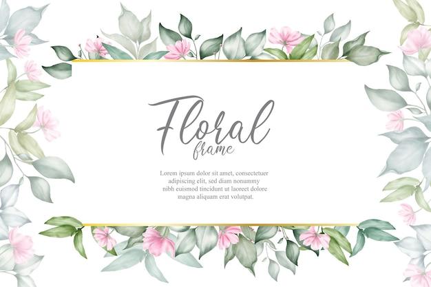 Blumenarrangementhintergrund für hochzeitseinladung Premium Vektoren