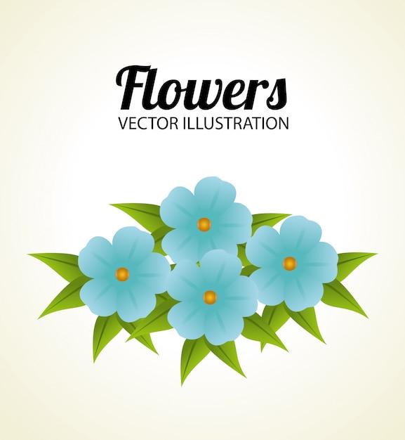 Blumendesign über beige illustration Kostenlosen Vektoren