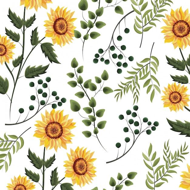 Blumenfrühlingshintergrund Premium Vektoren