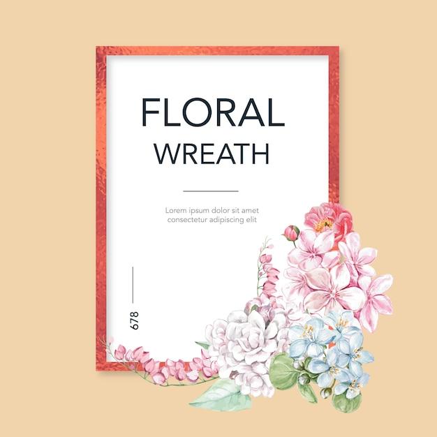 Blumenfrühlingsrahmen Kostenlosen Vektoren