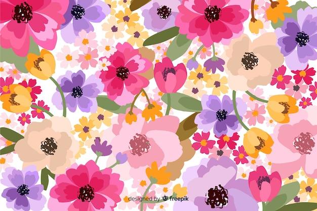 Blumenhintergrund der dekorativen blüte Kostenlosen Vektoren