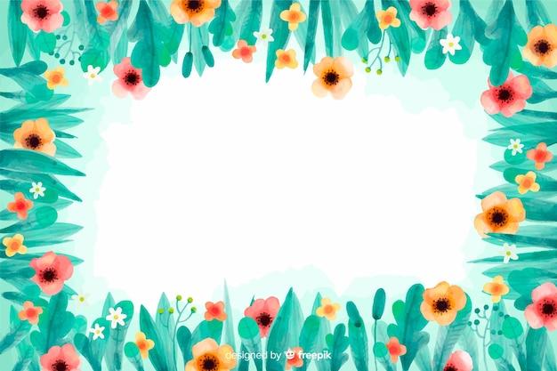 Blumenhintergrund des gelben und rosa blumenaquarells Kostenlosen Vektoren