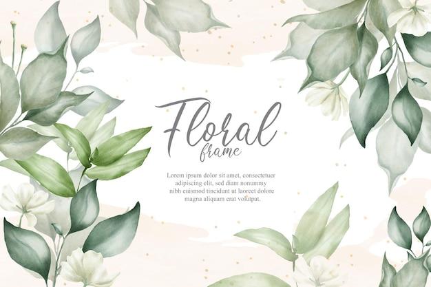 Blumenhintergrund für hochzeitseinladung Premium Vektoren