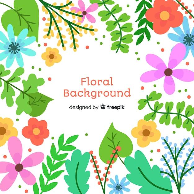Blumenhintergrund Kostenlosen Vektoren