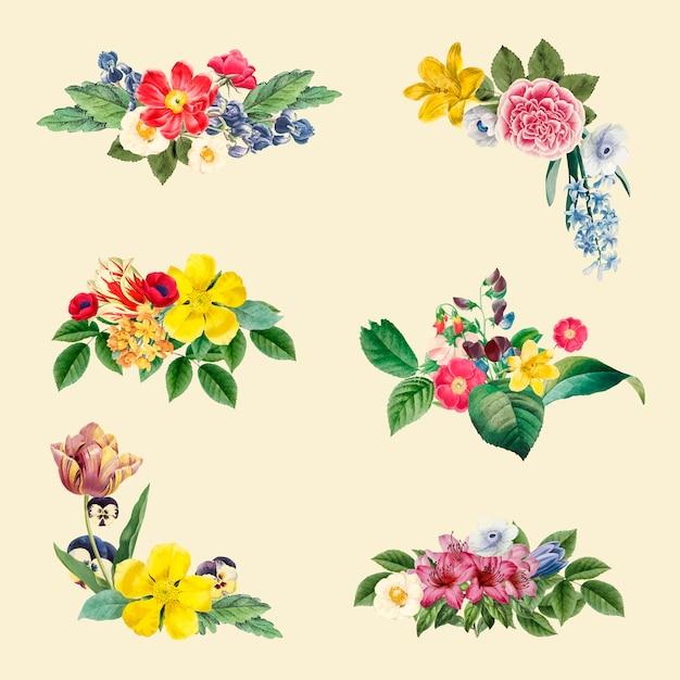 Blumenhintergrundabbildung Kostenlosen Vektoren