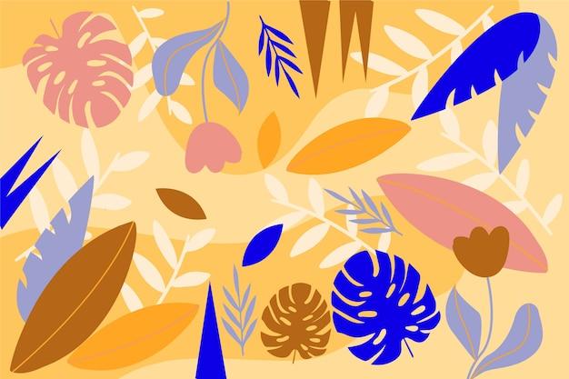 Blumenhintergrundkonzept der flachen designzusammenfassung Kostenlosen Vektoren