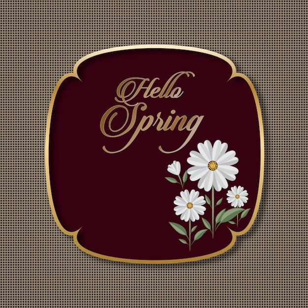 Blumenjahreszeit-gruß-karte Premium Vektoren
