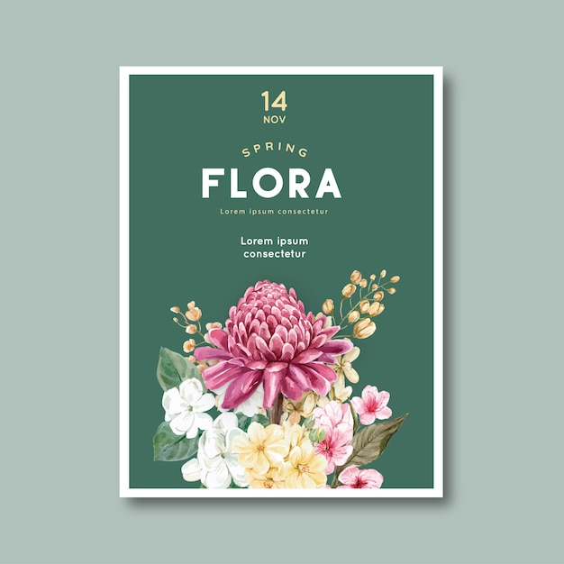 Blumenkarte Kostenlosen Vektoren
