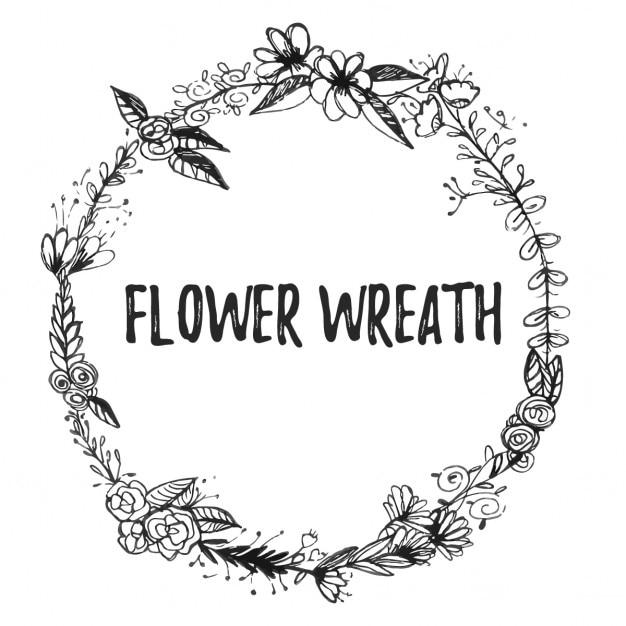 Blumenkranz Kostenlosen Vektoren