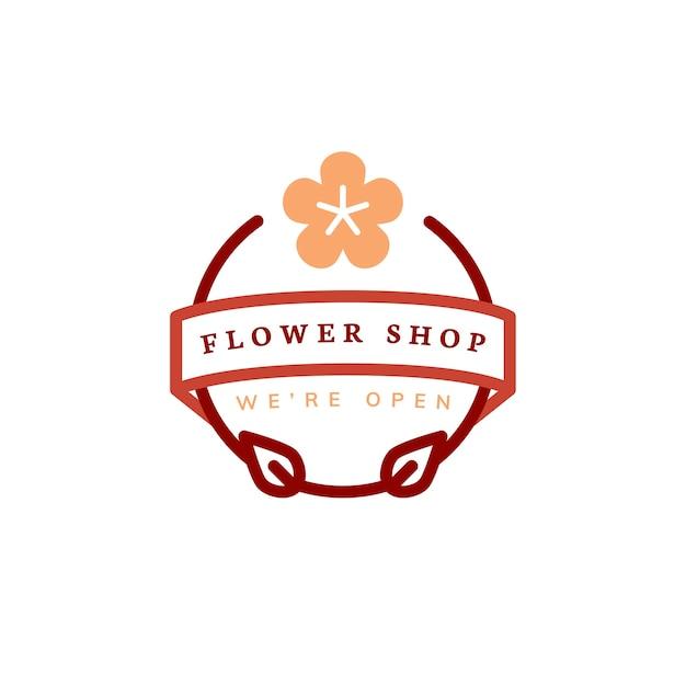 Blumenladenlogo-designvektor Kostenlosen Vektoren