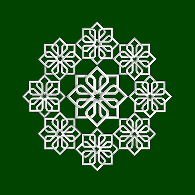 Blumenmuster 3d in der arabischen art Premium Vektoren