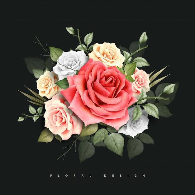 Blumenmuster-aquarell Premium Vektoren