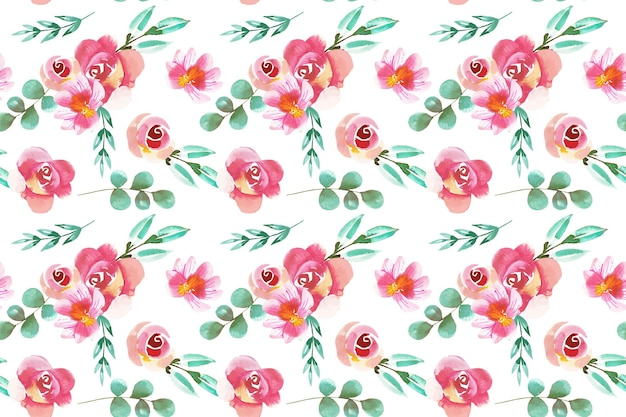 Blumenmuster aquarellstil Premium Vektoren